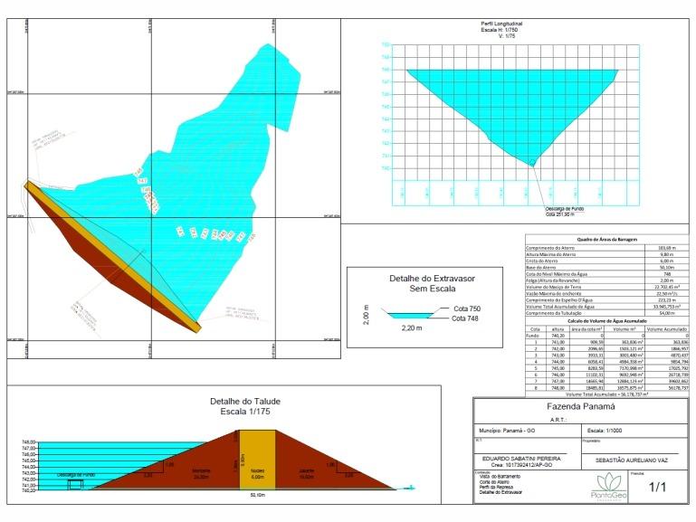 Projeto – Levantamento Planialtimétrico de Barragem Construída